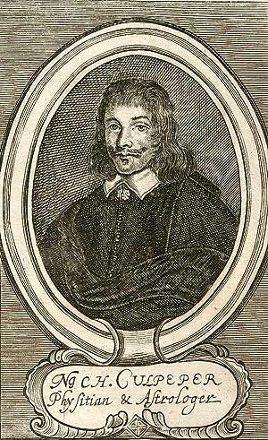 Physitian & Astrologer. Engraved Portrait: Culpeper