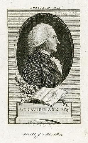 Engraved Portrait by J. Corner. From the European Magazine: Cruikshank, William