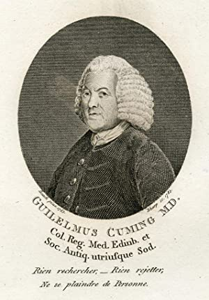 Engraved Portrait by Sharp after Beach: Cuming, Guilelmus