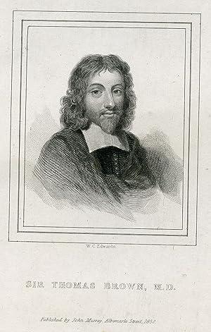 Engraved Portrait by W. C. Edwards: Brown, Sir Thomas, MD