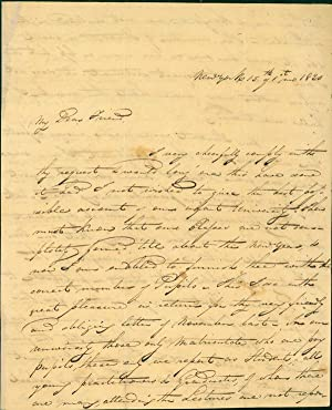 Autograph letter signed to R. Harlan: Mott, Valentine