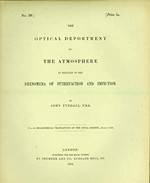 On the optical deportment of the atmosphere. Offprints: Tyndall, John