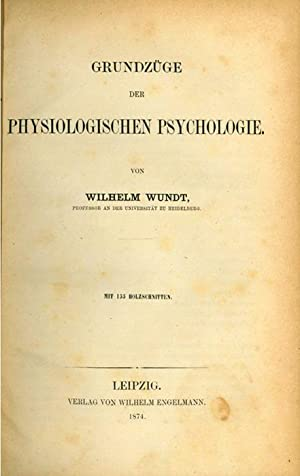 Grundzuge der physiologischen Psychologie: Wundt, Wilhelm