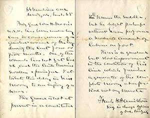 Autograph letter signed about injury of Brig. Gen. Williamm H. Morris at Spottsylvania: Hamilton, ...