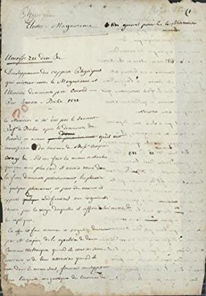 Autograph Manuscript on Oersted's discovery of electro-magnetism: La Rive, Charles-Gaspard de