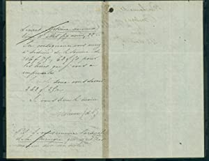 2 Autograph letters signed to his publisher Bailliere, with 2 articles on his scientific work: ...