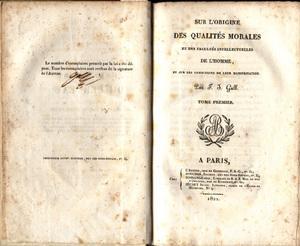 Sur les fonctions du cerveau et sur celles de chacune de ses parties: Gall, Franz Joseph
