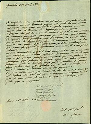 Autograph letter signed to [Francesco] Aglietti in: Scarpa, Antonio