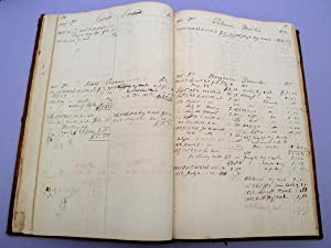 Manuscript medical daybook / ledger: Robin, Joseph Craven