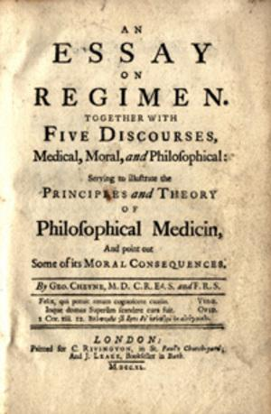 An essay on regimen. Together with five discourses: Cheyne, George