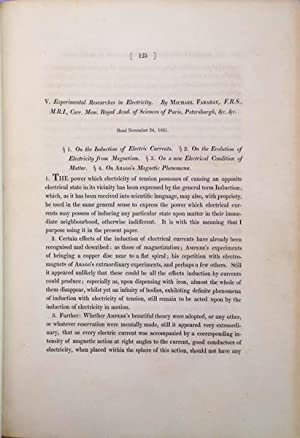 Experimental researches in electricity. Bound extracts: Faraday, Michael