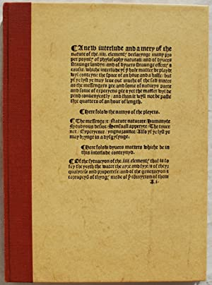 The Four Elements.: John Rastell.