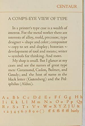 A Comp's-Eye View of Type.: Emerson Gisel Wulling.