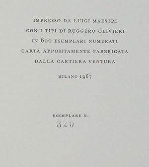 Origini del Corsivo nella Tipografia Italiana.: Luigi Balsamo and Alberto Tinto.
