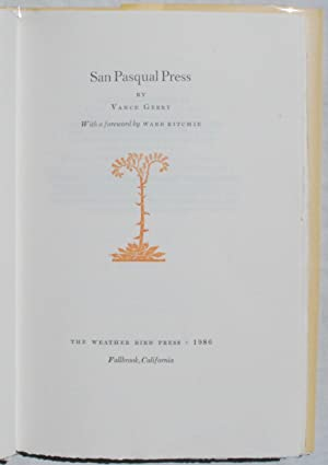 San Pasqual Press: Gerry, Vance