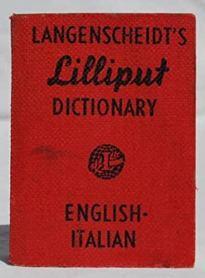 Langenscheidt's Lilliput Dictionary, English-Italian.: Langenscheidt.