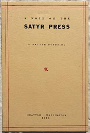 A Note on the Satyr Press.