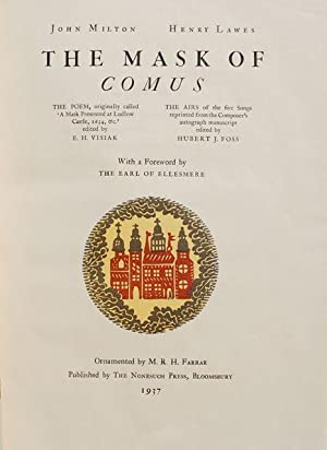 The Mask of Comus: John Milton and Henry Lawes