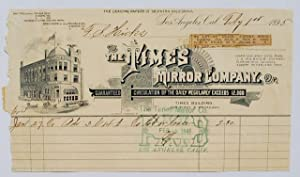 Receipt for Rent.: Times Mirror Company.