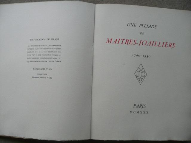 Une Joailliers1780 De Maîtres Pléiade 1930 SzLpVGUMq