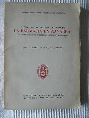 Aportación al estudio histórico de la farmacia: GONZALEZ DE LA