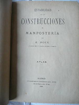 Estabilidad de las construcciones de mampostería. Atlas: E. Boix