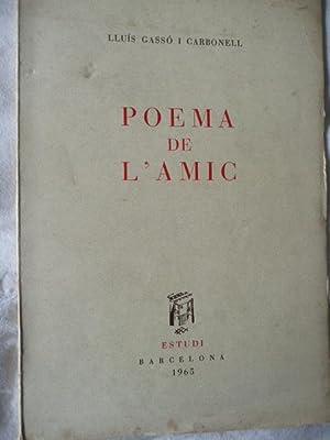 Poema De L'Amic.: Gassó I Carbonell,
