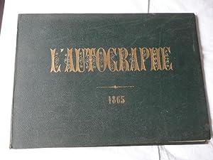L'AUTOGRAPHE AU SALON DE 1865, 104 Pages: Pigalle