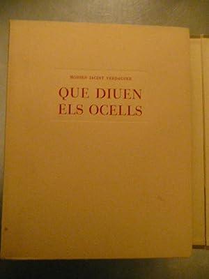 QUÈ DIUEN ELS OCELLS Litografies D alexandre Coll Acolorides a mà: Mossèn Jacint ...