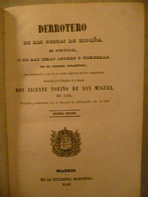 DERROTERO De Las Costas De España, De Portugal, y De Las Islas Azores o Terceras, En El ...