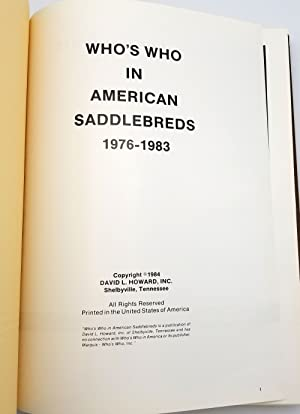 Who's Who in American Saddlebreds 1976-1983