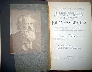 Johannes Brahms: Handbook to the Vocal Works: Edwin Evans