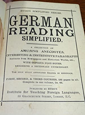 German Reading Simplified (Hugo's Simplified Series)