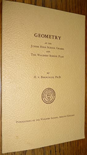 Geometry at the Junior High School Grades and the Waldorf School Plan: Hermann von Baravalle