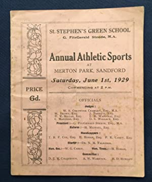 St. Stephen's Green School - Annual Athletic Sports at Merton Park, Sanford Saturday, June 1st, 1...