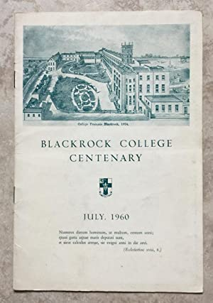 Blackrock College Centenary July, 1960 ( 'The Gondoliers' programme )