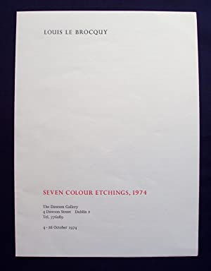 Louis le Brocquy : Seven Colour Etchings,: le Brocquy, Louis