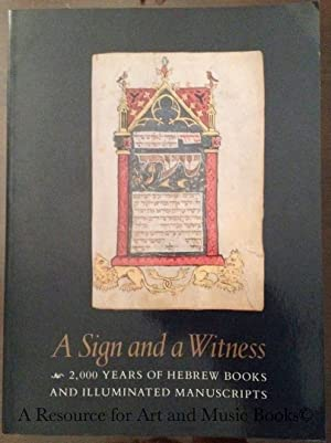 A Sign and a witness: 2,000 years: Unknown