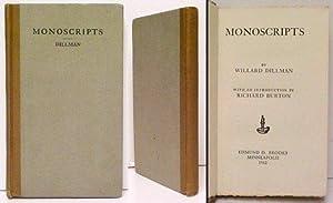 Monoscripts: DILLMAN, Willard.BURTON, Richard,