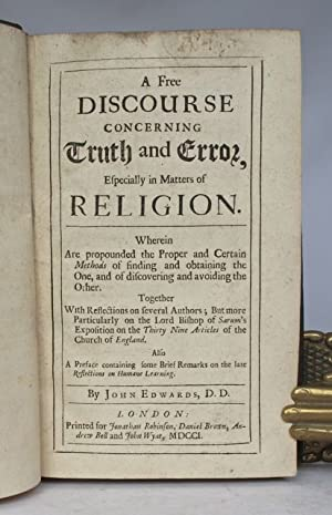 A free discourse concerning truth and error,: EDWARDS, John