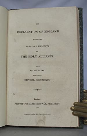 The declaration of England against the acts: ADAIR, Sir Robert]