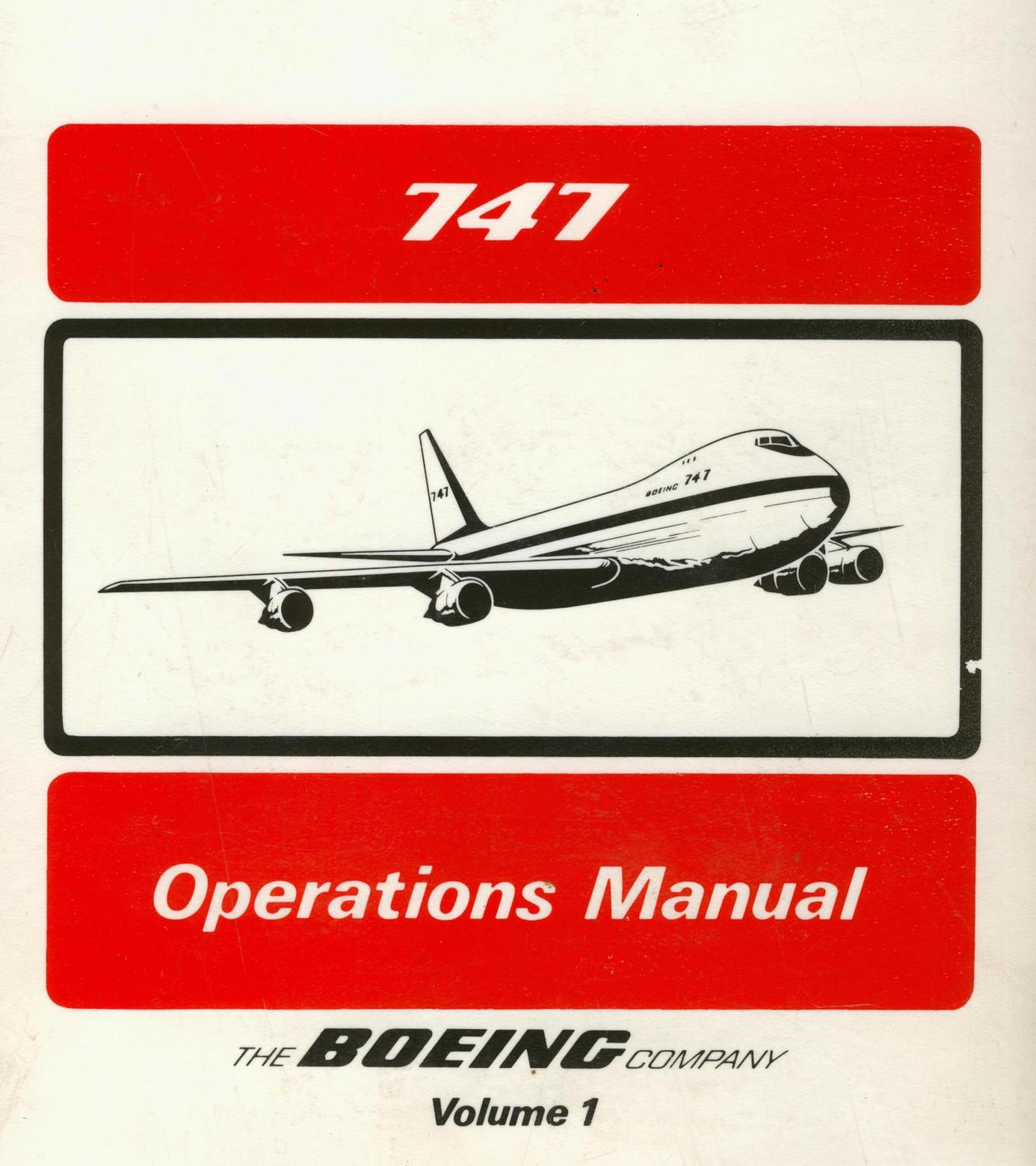 747 operations manual volume 1 by boeing aircraft company boeing rh abebooks co uk pmdg 747 operations manual boeing 747 operating manual