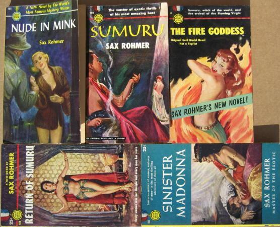 """""""""""SUMURU"""""""" COMPLETE 5-VOLUME SERIES: Nude in Mink (aka Sins of Sumuru) / Sumuru (aka The Slaves of Sumuru) / The Fire Goddess (aka Virgin in Flames) /"""
