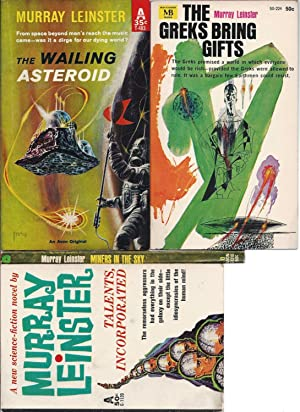 """MURRAY LEINSTER"""" FIRST EDITIONS: The Wailing Asteroid / Talents, Incorporated / ..."""