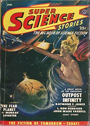 Super Science Stories (CANADIAN) 1950 Vol. 6 # 02 January: Outpost Infinity / The Long Dawn &#...