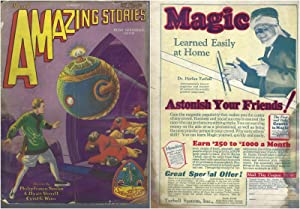 Amazing Stories 1929 Vol. 3 # 12 March: The Airlords of Han / Into the Green Prism (pt 1) / The F...