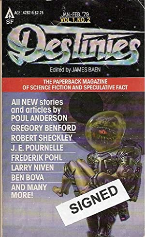 Destinies: The Paperback Magazine of Science Fiction: Baen, James (editor):