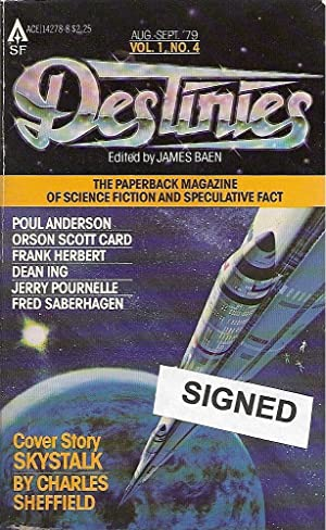 Destinies: The Paperback Magazine of Science Fiction: Baen, James (editor):
