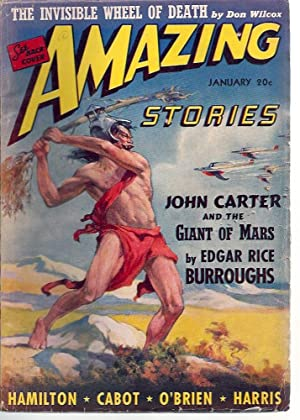 Amazing Stories 1941 Vol. 15 # 1 January: John Carter & the Giant of Mars / Invisible Wheel of De...