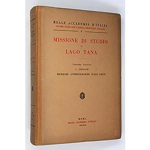 Missione di Studio al Lago Tana. Volume: Cipriani, L